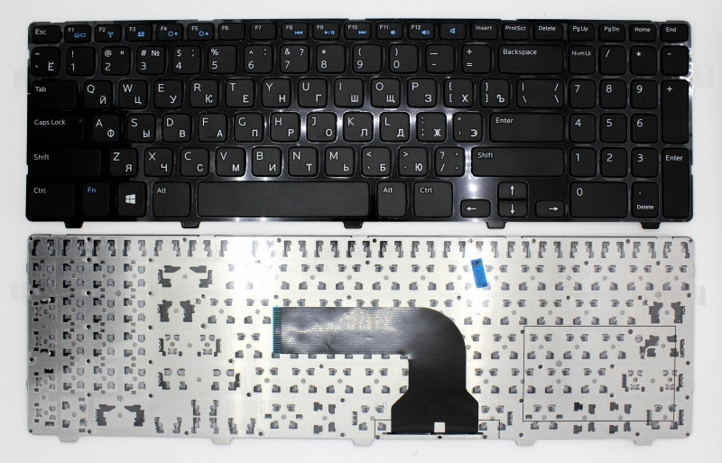 Клавиатура для ноутбука Dell Inspiron 15 3521/ 15R 5521, RU, черная