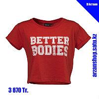 Короткая футболка для фитнеса Better Bodies красная