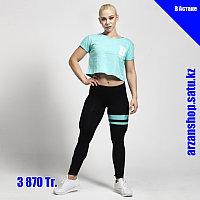 Короткая футболка для фитнеса Better Bodies голубая