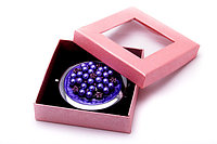 Круглое косметическое зеркало с бусинками, фото 1