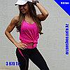 Женская майка для фитнеса розовая