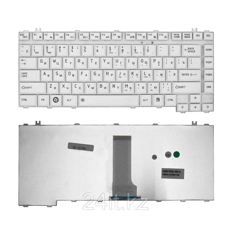 Клавиатура для ноутбука Toshiba Satellite A200, A205, A210, A215, M200 Series. Серебристая.