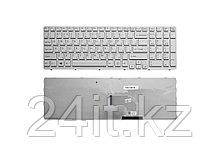 Клавиатура для ноутбука Sony Vaio E15, E17, SVE15, SVE17, SVE151 Series. Плоский Enter. Белая, с белой рамкой