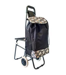 Сумка-тележка хозяйственная со стульчиком
