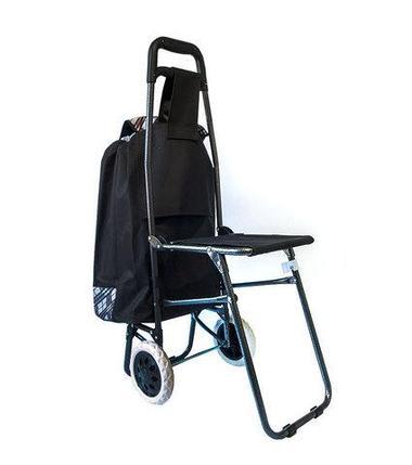 Сумка-тележка хозяйственная со стульчиком, фото 2