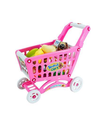 Игрушечная продуктовая тележка Shopping Cart BOHUI {83 предмета} (Розовый)