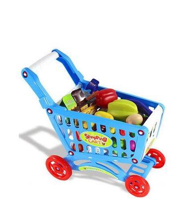 Игрушечная продуктовая тележка Shopping Cart BOHUI {83 предмета} (Голубой), фото 2