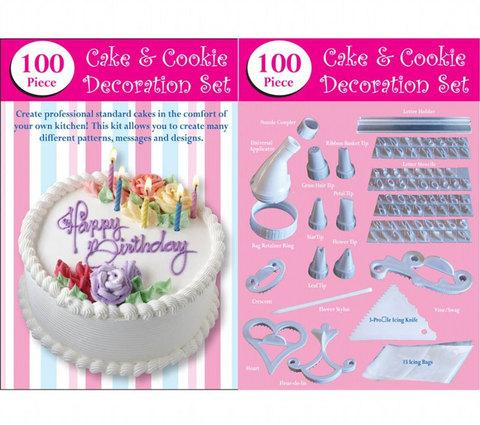 Набор для декорирования тортов и пирожных HN1636 [100 предметов]
