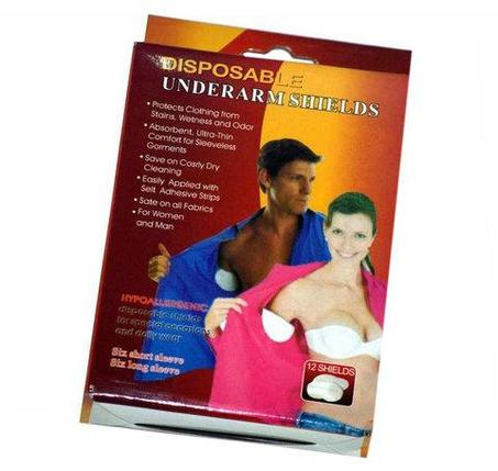Вкладыши для защиты одежды от пота Disposable Underarm Shields [12 шт.], фото 2