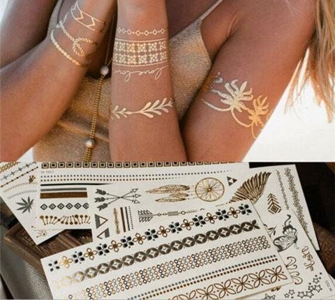 Набор временных флэш татуировок Shimmer Jewelry [70 шт.]