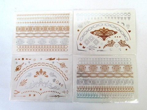 Набор временных флэш татуировок Shimmer Jewelry [70 шт.], фото 2
