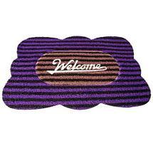 Коврик придверный Clean Machine «Welcome» (Фиолетовый с коричневым), фото 2