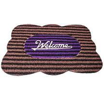 Коврик придверный Clean Machine «Welcome» (Фиолетовый с коричневым), фото 3