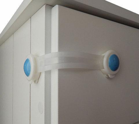 Блокиратор для дверей мебели гибкий R.BEETLES WA-010B [2 шт.], фото 2