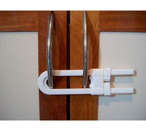 Блокиратор для дверей мебели U-образный R.BEETLES WA-027 [2 шт.], фото 2