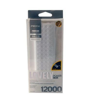 Аккумулятор для зарядки USB-устройств PRODA PowerBank 12000mAh, фото 2