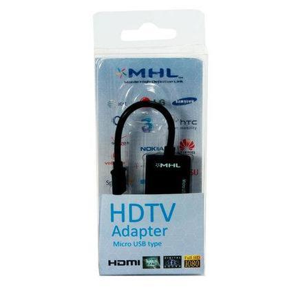 Переходник-адаптер MHL-HDMI для подключения смартфона к телевизору или монитору, фото 2