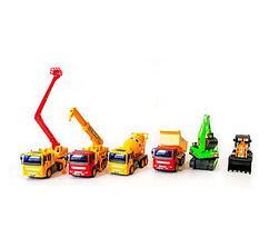 Набор игрушечных строительных машин LEXIN TOYS 6288-6 [6 шт.], фото 2