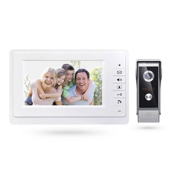 Комплект видеодомофона для квартиры, частного дома с вызывной панелью PST-VD07L