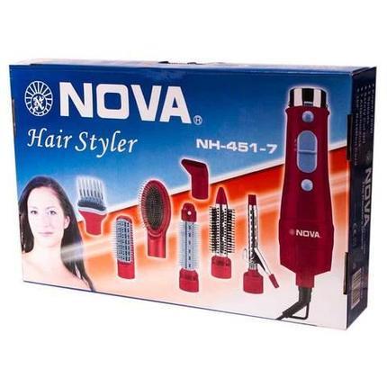 Фен-стайлер NOVA NH-451-7 7 в 1, фото 2