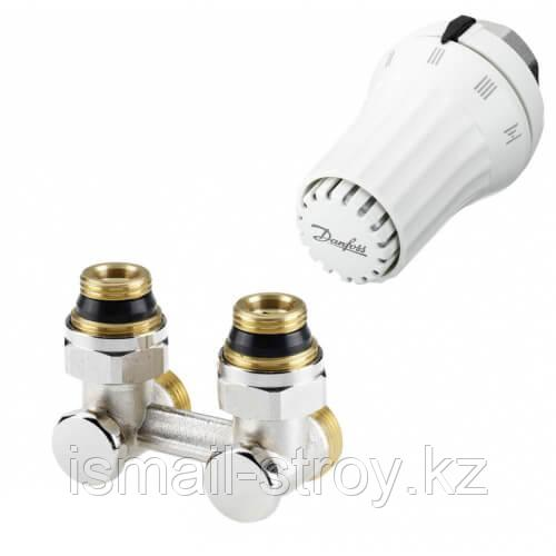 Комплект для радиаторов с нижним подключением, состоящий из клапана RLV-KS и термостата RTR7090,