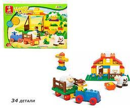 Конструктор SLUBAN М38 Веселая ферма [11 - 114 деталей] (M38-B6018 34 детали), фото 3