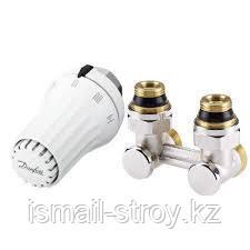 Комплект для радиаторов с нижним подключением, состоящий из клапана RLV-KS и термостата RTRW-K