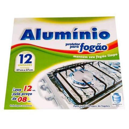 Фольга для кухонной плиты алюминиевая [27х27 см, 12 шт.], фото 2