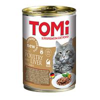 «TOMI» консервы для кошек 400г утка и печень, кусочки в соусе