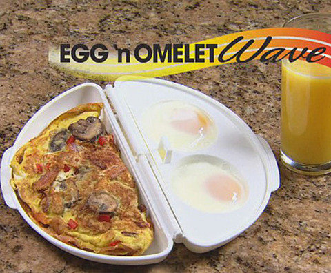 Форма для приготовления омлета и глазуньи в микроволновке Egg & Omelet Wave 2-в-1, фото 2
