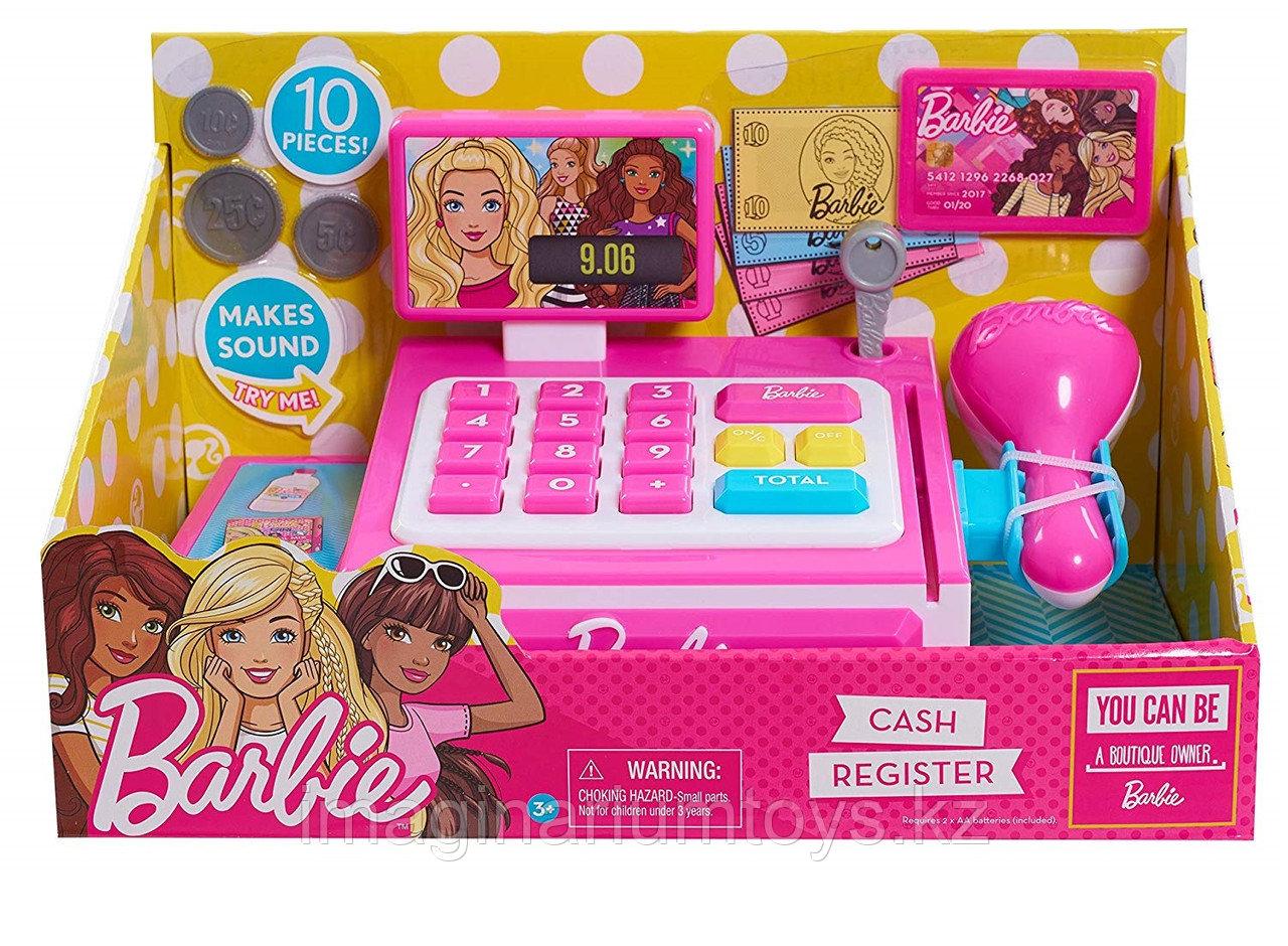 Детская касса со сканером Барби