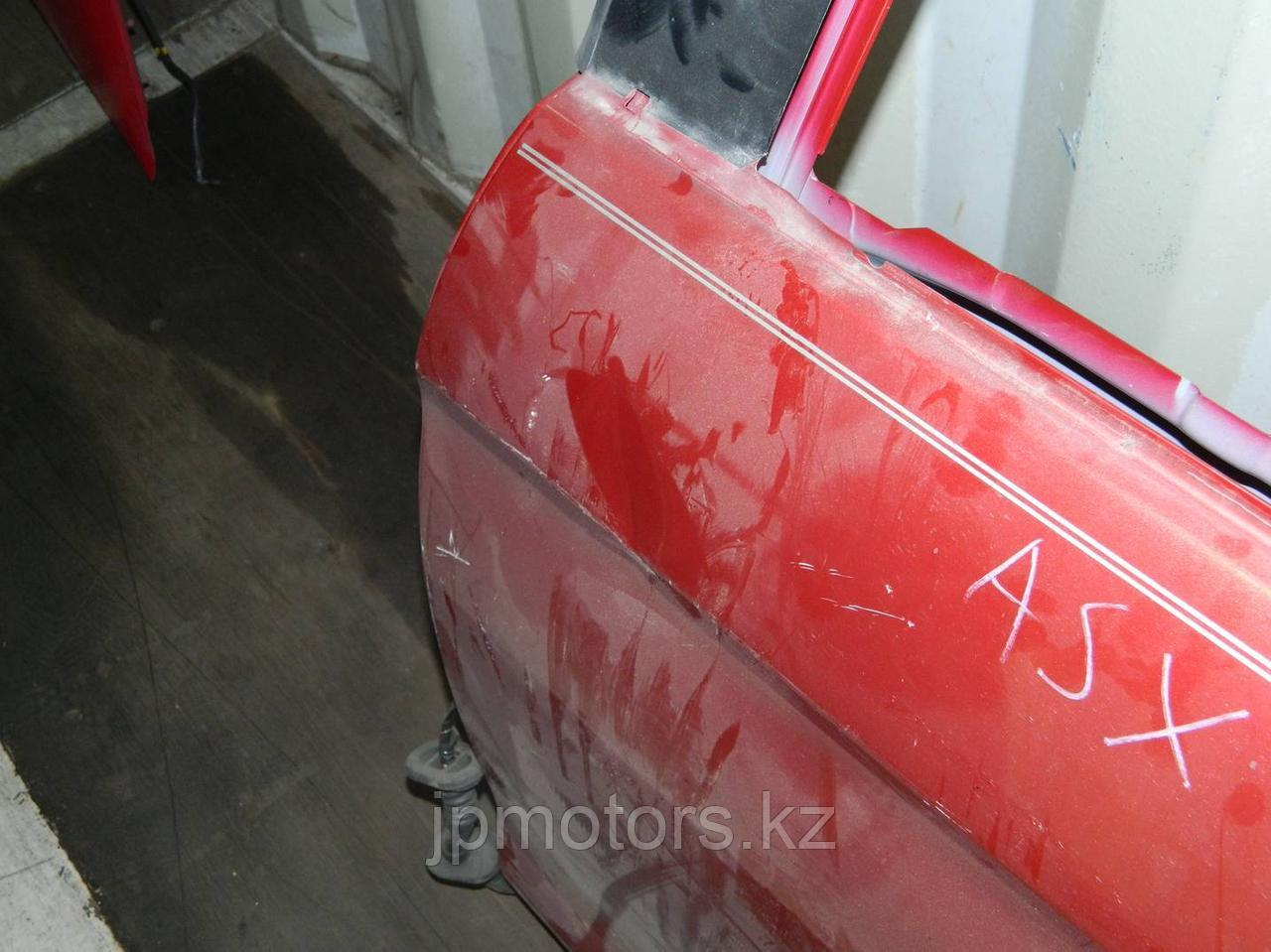 Дверь задняя левая (красная)(с повреждением) mitsubishi asx
