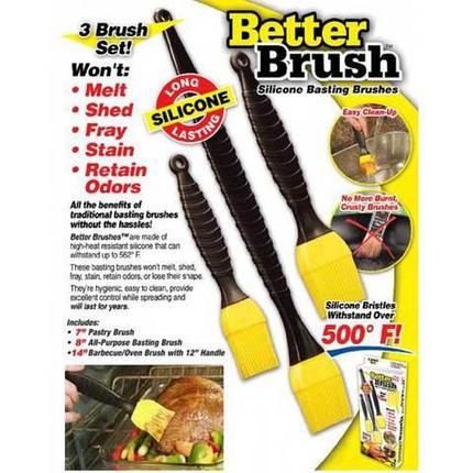 Набор кулинарных кисточек для обмазывания Better Brush [3 шт.], фото 2