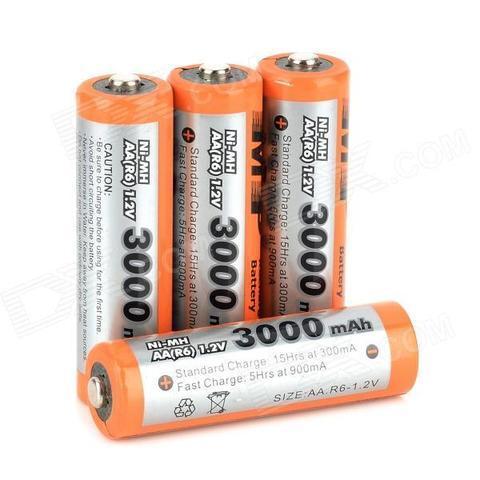 Аккумуляторы [перезаряжаемые батарейки] Multiple Power (АА / 3000 mAh)