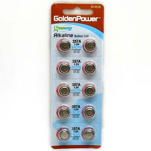 Батарейки «таблетки» марганцево-щелочные Golden Power 357A [1.5V, 10 шт.] (357)