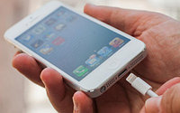 Адаптер [антенна] для беспроводной зарядки смартфонов внешний Saitake QI (с разъемом Apple Lightning)