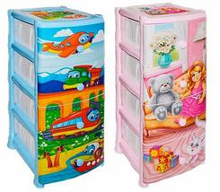 Комод пластиковый детский «Детские сны» [4 секции] (Кукла), фото 2