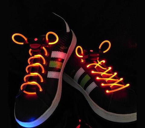 Шнурки со светодиодной подсветкой Platube (Красный)