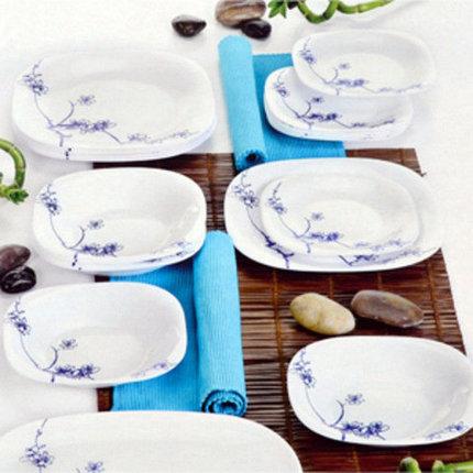 Сервиз столовый Luminarc Carine Ming Blue/Red H0372/H0373 (Синий), фото 2