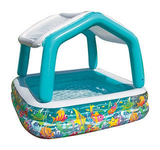 Детский бассейн для малышей INTEX 57470 Sun Shade с навесом