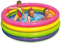 Бассейн надувной для малышей INTEX 57412 с надувным дном {диаметр 114 см}