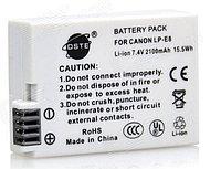 Аккумуляторы LP-E8 на Canon EOS 550D 600D 650D от DSTE
