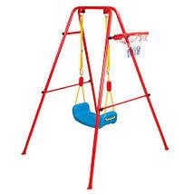 Качели детские с баскетбольным кольцом 2 в 1 Swing & Basketball, фото 3