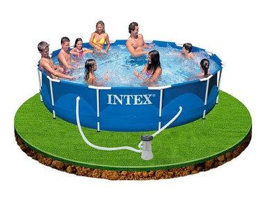 Бассейн каркасный 366x76 см + фильтр-насос INTEX 28212/56996