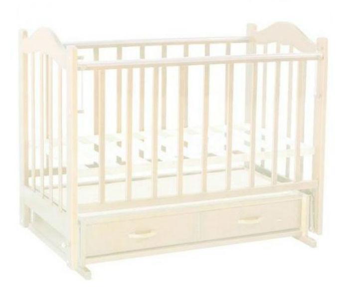 Кровать детская ВЕДРУСС Солнышко-4 маятник Слоновая кость