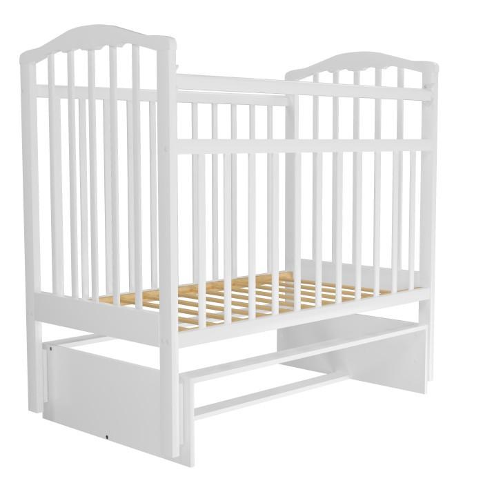 Кровать детская АГАТ ЗОЛУШКА-3 маятник Белый