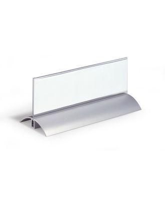 """Настольная алюминиевая подставка """"Durable De Luxe"""", 61x210мм, акриловая прозрачная панель"""