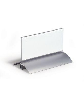 "Бейдж настольный с подставкой Durable ""de Luxe"", 61х150 мм"