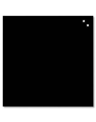 Доска стеклянная магнитно-маркерная NAGA®, 45х45 см, цвет: черный