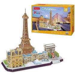 CubicFun Достопримечательности Парижа, 114 элементов